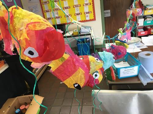 Plastic Bottle Fish Schools Project 2016