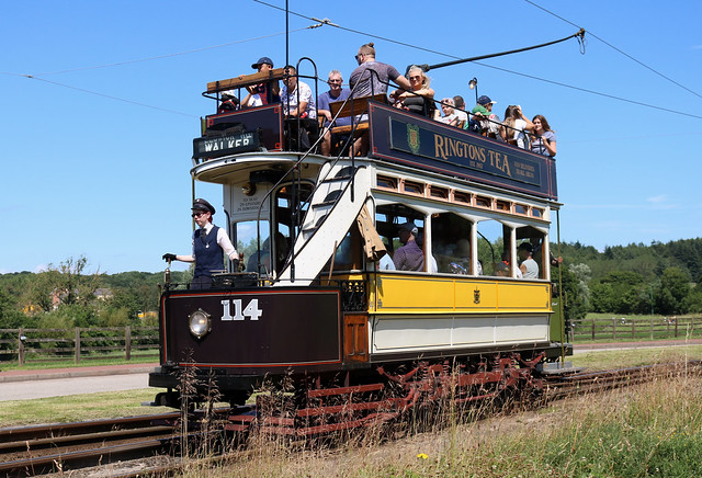 Trams: Newcastle Corporation: 114 Beamish Open Air Museum