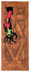 Haunted Mansion arm in door lithograph