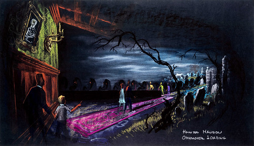 Haunted Mansion, omnimover loading concept art