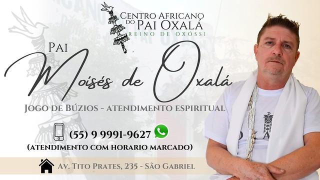 Centro Africano do Pai Oxalá - Reino de Oxóssi - Pai Moisés de Oxalá - agende seu horário