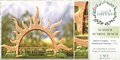 Simply Shelby Summer Sunrise Bench PG