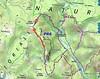 Carte IGN du PR6 avec le tracé des travaux de l'operata du 30/05/2020