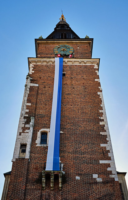Looking Up (The Town Hall Tower - Market Square - Krakow Old Town) Fujifilm X100F