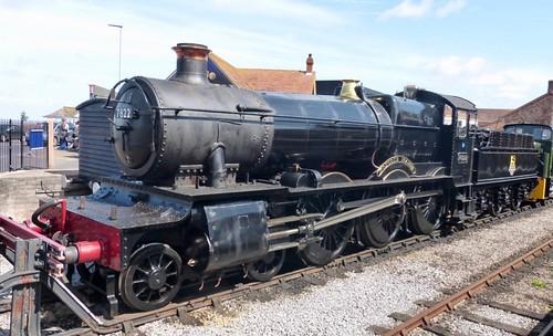 7822 'British Railways' 'Foxcote Manor'. GWR 7800 class /1 on Dennis Basford's railsroadsrunways.blogspot.co.uk'