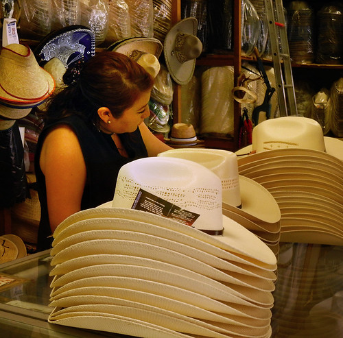 A sombrero (hat) shop in Puebla, Mexico