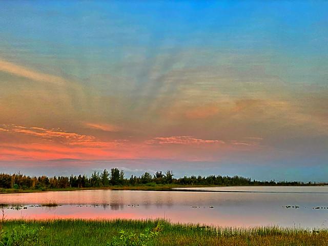 Antisolar rays opposite sunrise 3-20200602