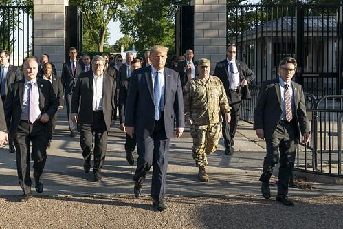 President Trump Visits St. John's Episcopal Church