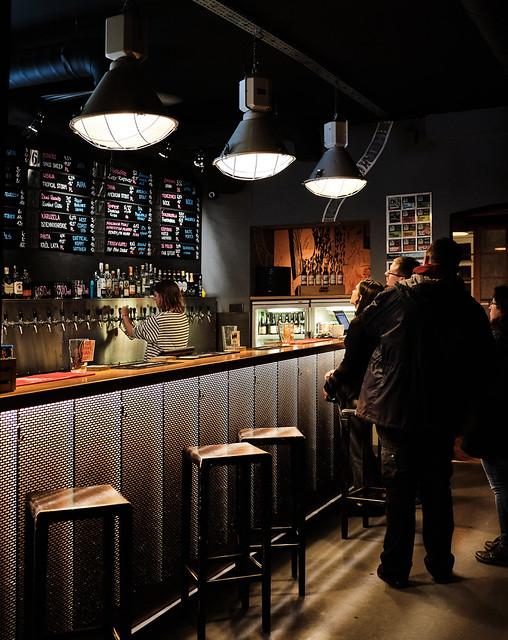 Choosing a Craft Beer ( Krakow Old Town) Fujifilm X100F