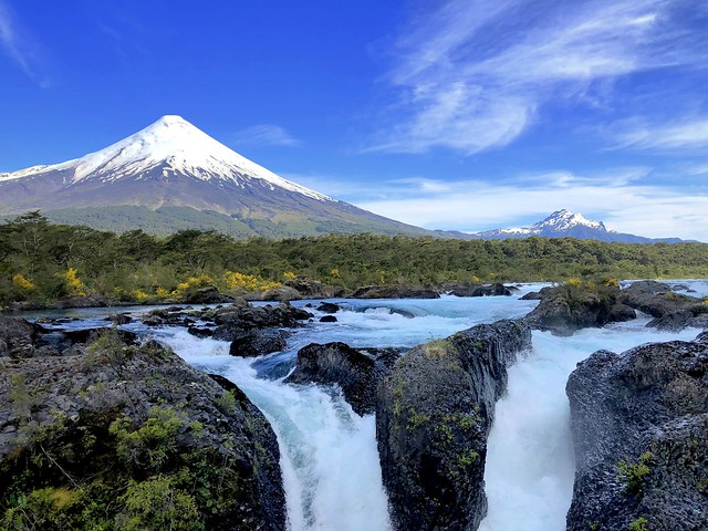 Osorno Volcano and Petrohué Waterfalls