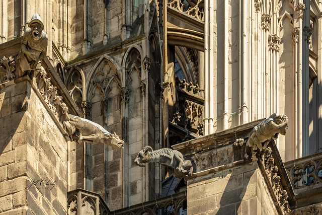 Armchair Traveling - Gargoyles on Cologne Cathedral