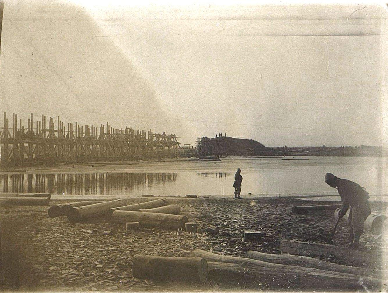 05. Постройка железнодорожного моста через реку Ля-Лин-Хэ. Ноябрь 1900