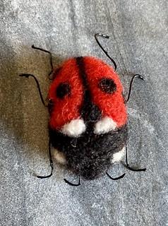 Felted ladybird