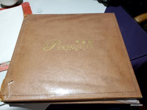 Peking Man Restaurant menu cover