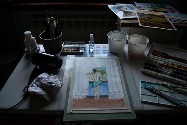 Lockdown (3) passare il tempo pitturando - spend time painting