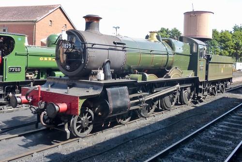 7829 'British Railways' 'Odney' Manor'. GWR 7800 class on Dennis Basford's railsroadsrunways.blogspot.co.uk'