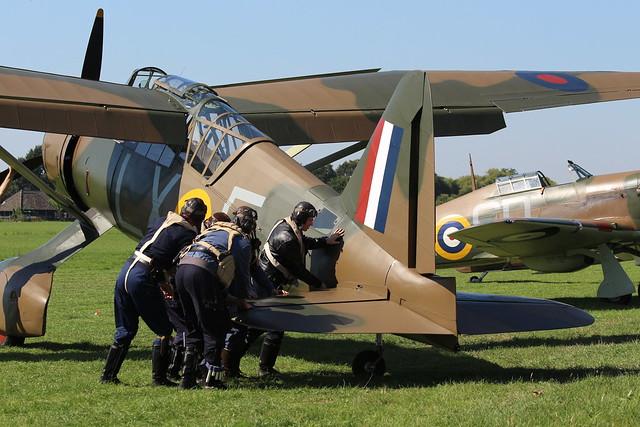2019-08-24; 0152. Westland Lysander Mk.IIIA (1936), G-CCOM, V9312  LX-E. Wings of Freedom, Ede.