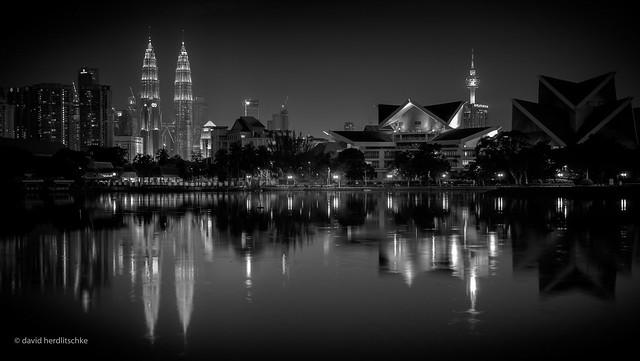 Kuala Lumpur Night BW