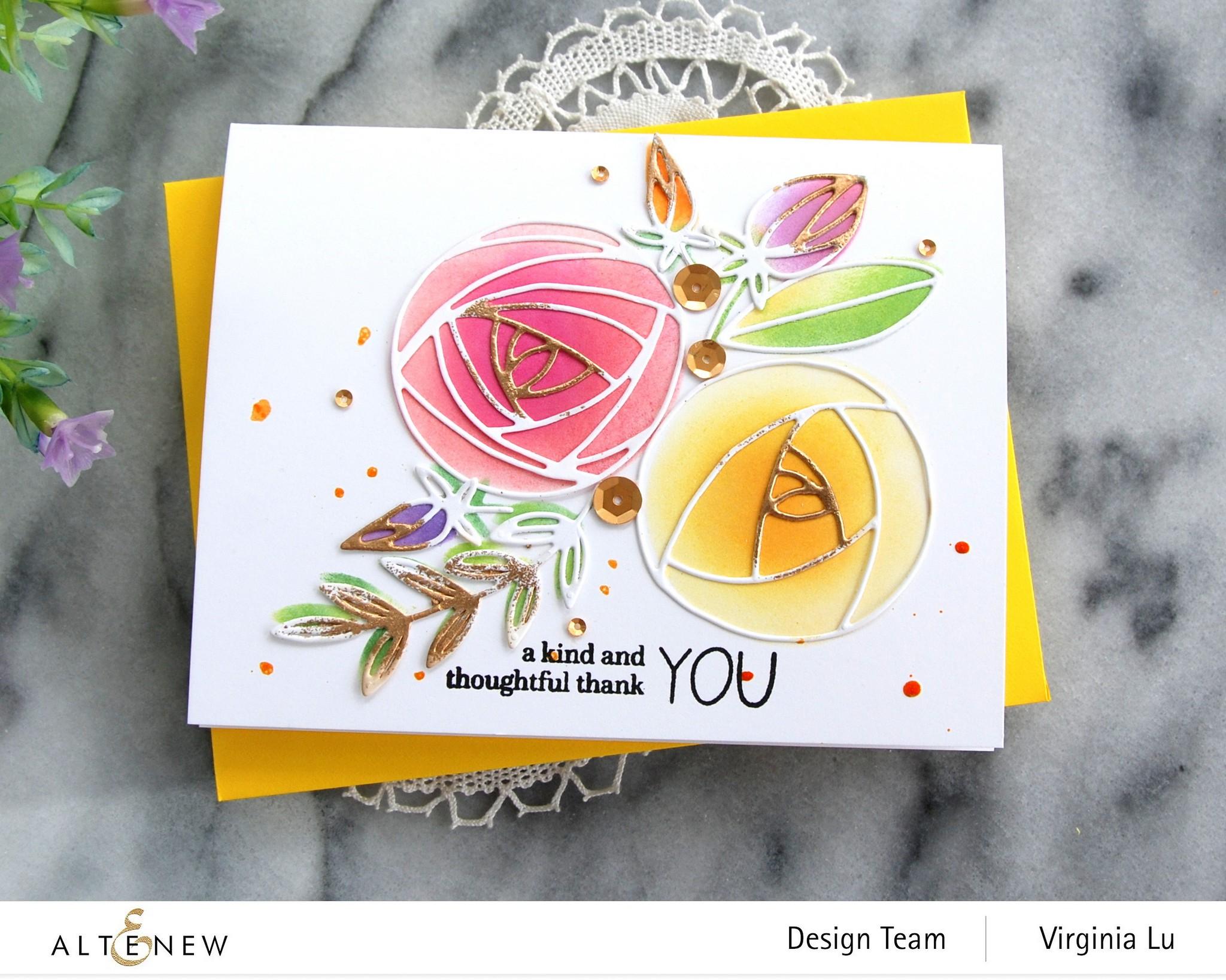 Altenew-Rolled Roses Die Set-Virginia#2