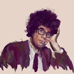 Richard Ayoade Art Portrait