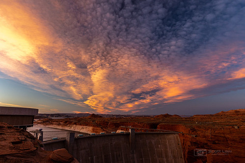 Sunset over Glen Canyon Dam