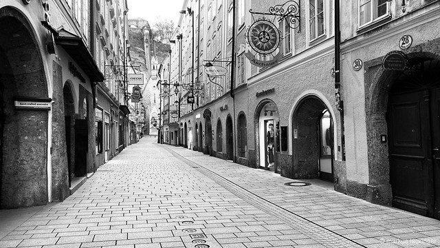 Salzburg Getreidegasse - Corona Lockdown