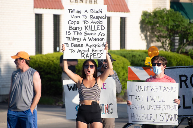 #Tonedeaf - White Woman Finds Way To Make George Floyd Protest About Herself