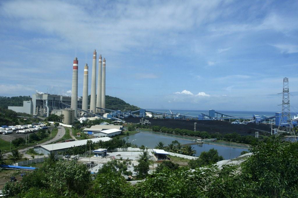 Suralaya coal power plant in Indonesia