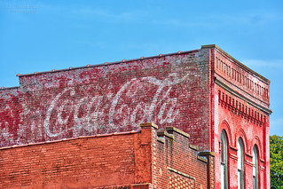 Coca-Cola ghost sign - Downtown Clinton, Tennessee