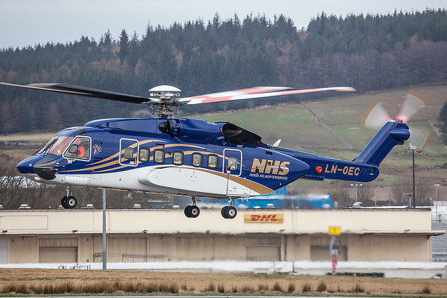 LN-OEC, Sikorsky S-92 Norsk Helikopterservice @ Aberdeen-Dyce ABZ EGPD
