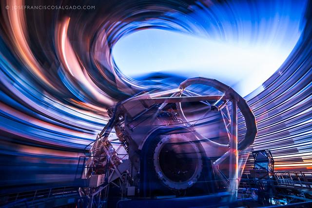 Inside the Very Large Telescope (UT1)