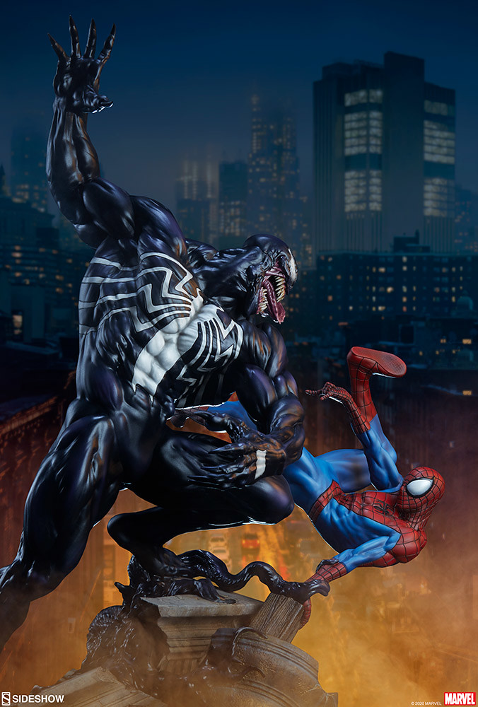 宿敵之戰再度打響! Sideshow Collectibles MARVEL【蜘蛛人大戰猛毒】Spider-Man vs Venom 全身雕像 普通版/EX版