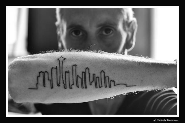 My new tattoo, Seattle skyline