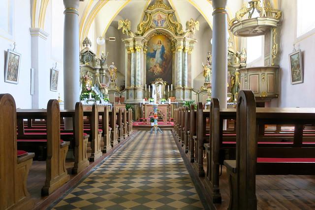 Dans l'église de Wallendorf