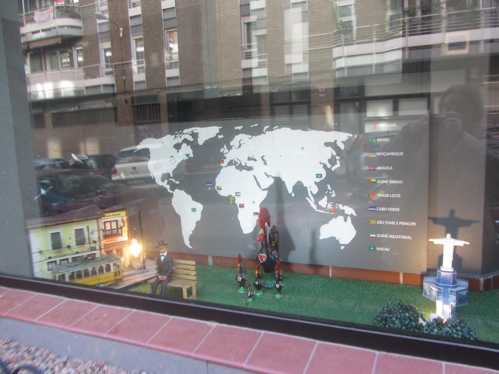Window  Display,  Portuguesalia, Portuguese Language School, Calle  Constancia, Prosperidad, my neighbourhood, Madrid