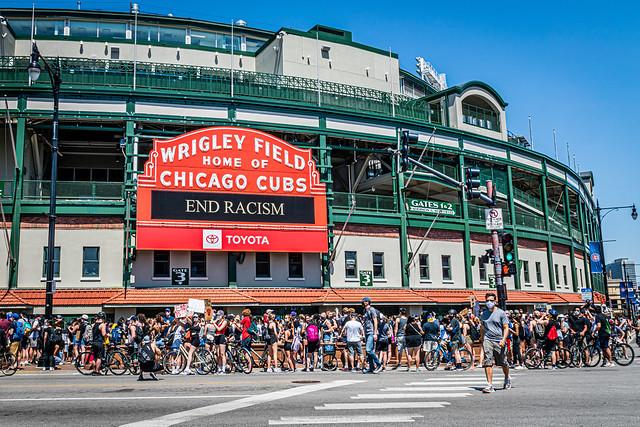 Northside Protest for Black Lives, June 2nd, 2020, at Wrigley Field, Chicago  