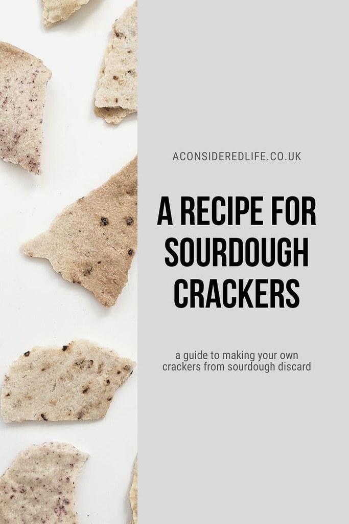 A Recipe For Sourdough Discard Crackers