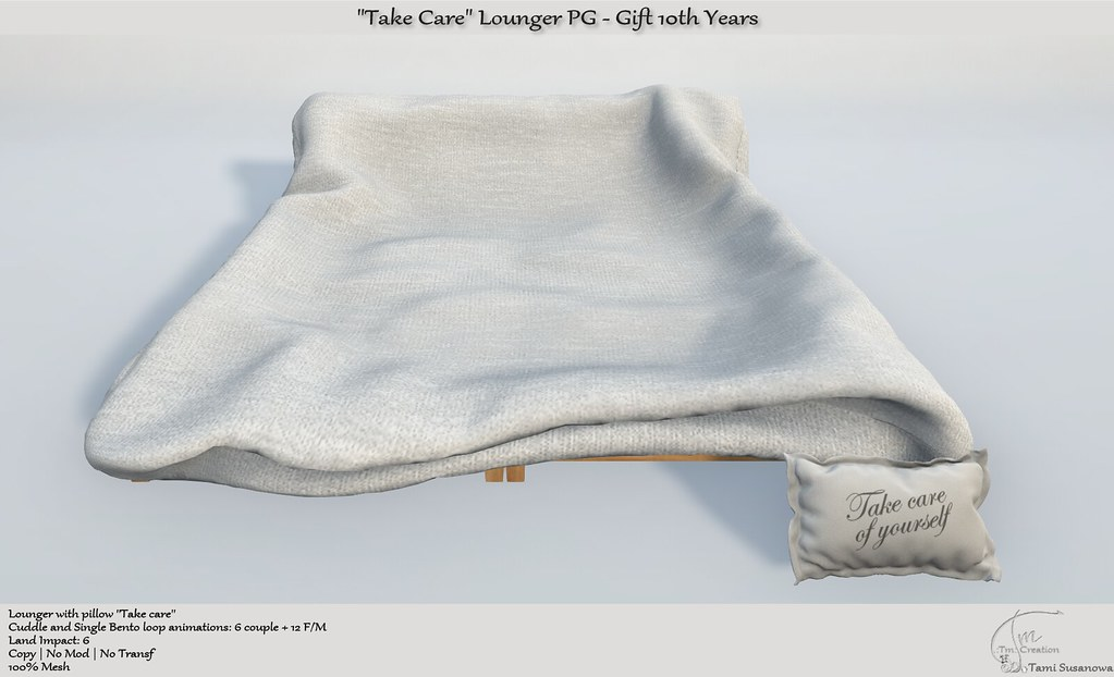 """Take Care"" Lounger PG Gift 10th Years"