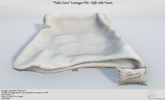 """""""Take Care"""" Lounger PG Gift 10th Years"""
