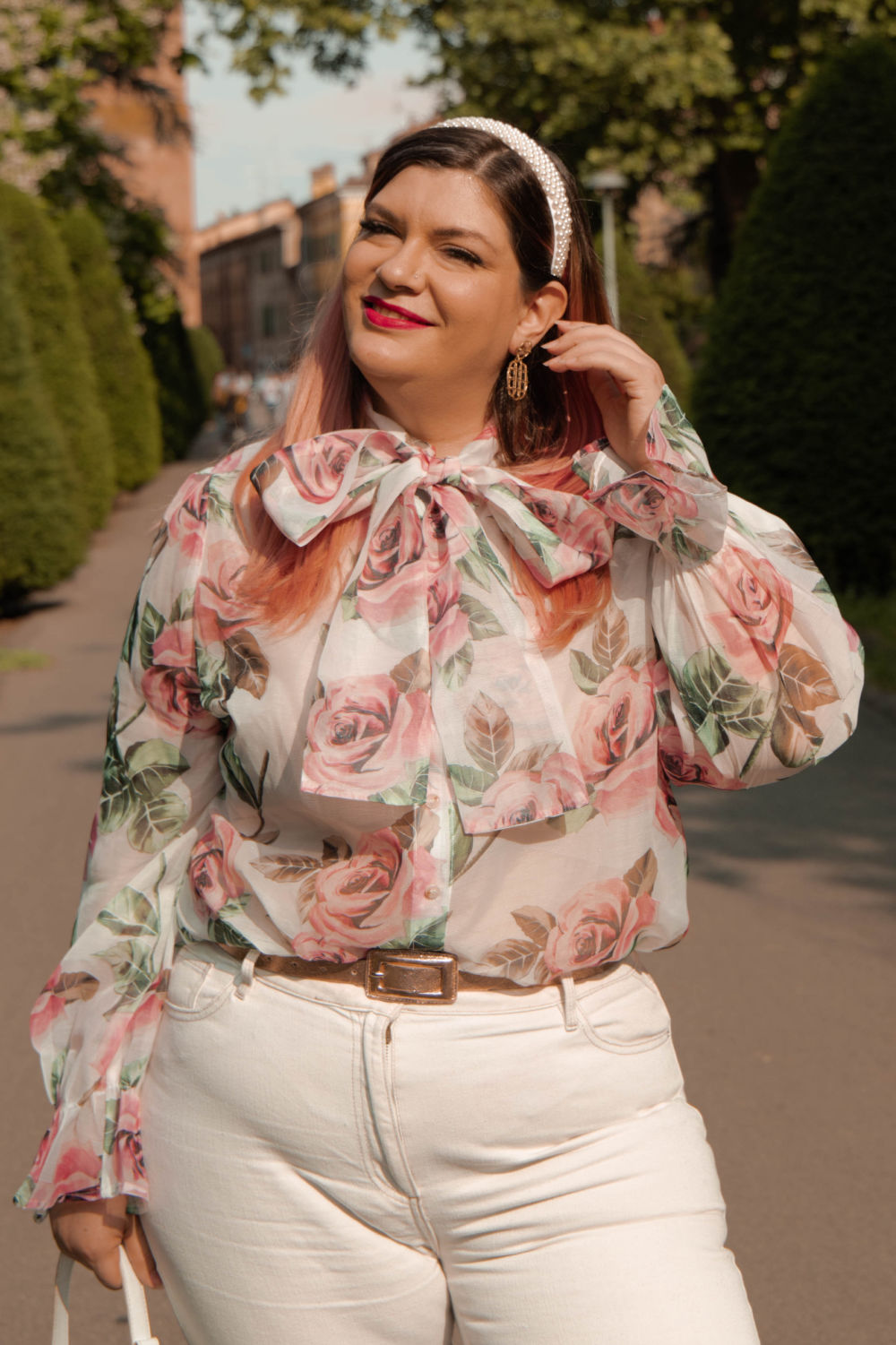 outfit curvy plus size come indossare il bianco (5)
