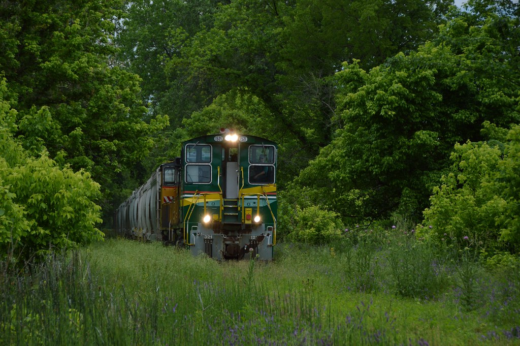 At Chesterfield Missouri, the Central Midland RR is eastbound .