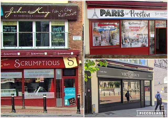 Cafes coming and going in the centre of Preston