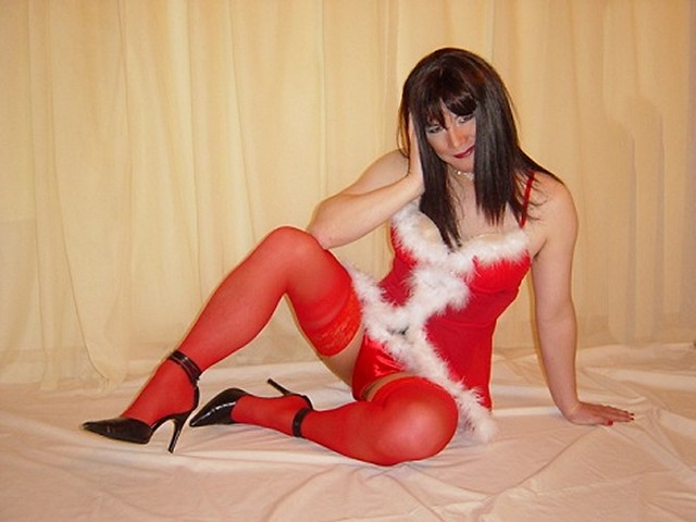 Lady in Red Stockings