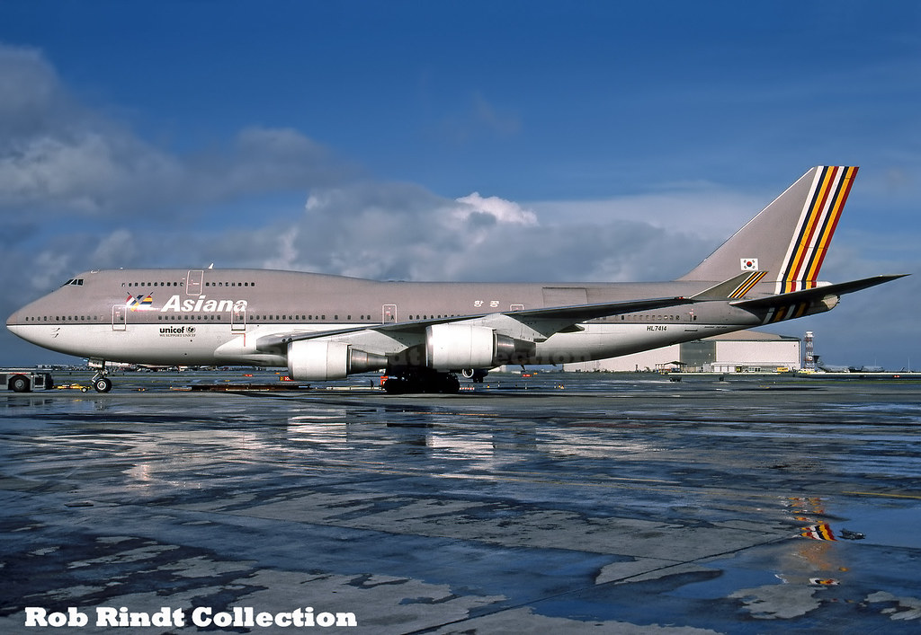 Asiana Airlines B747-48E HL7414