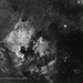 The North America Nebula Region in Monochrome