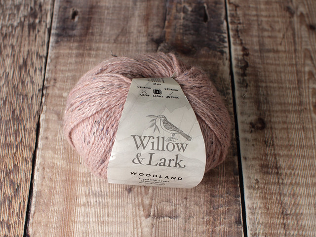 Destash yarn: Willow & Lark Woodland alpaca wool tweed DK yarn 50g – Cherry Blossom