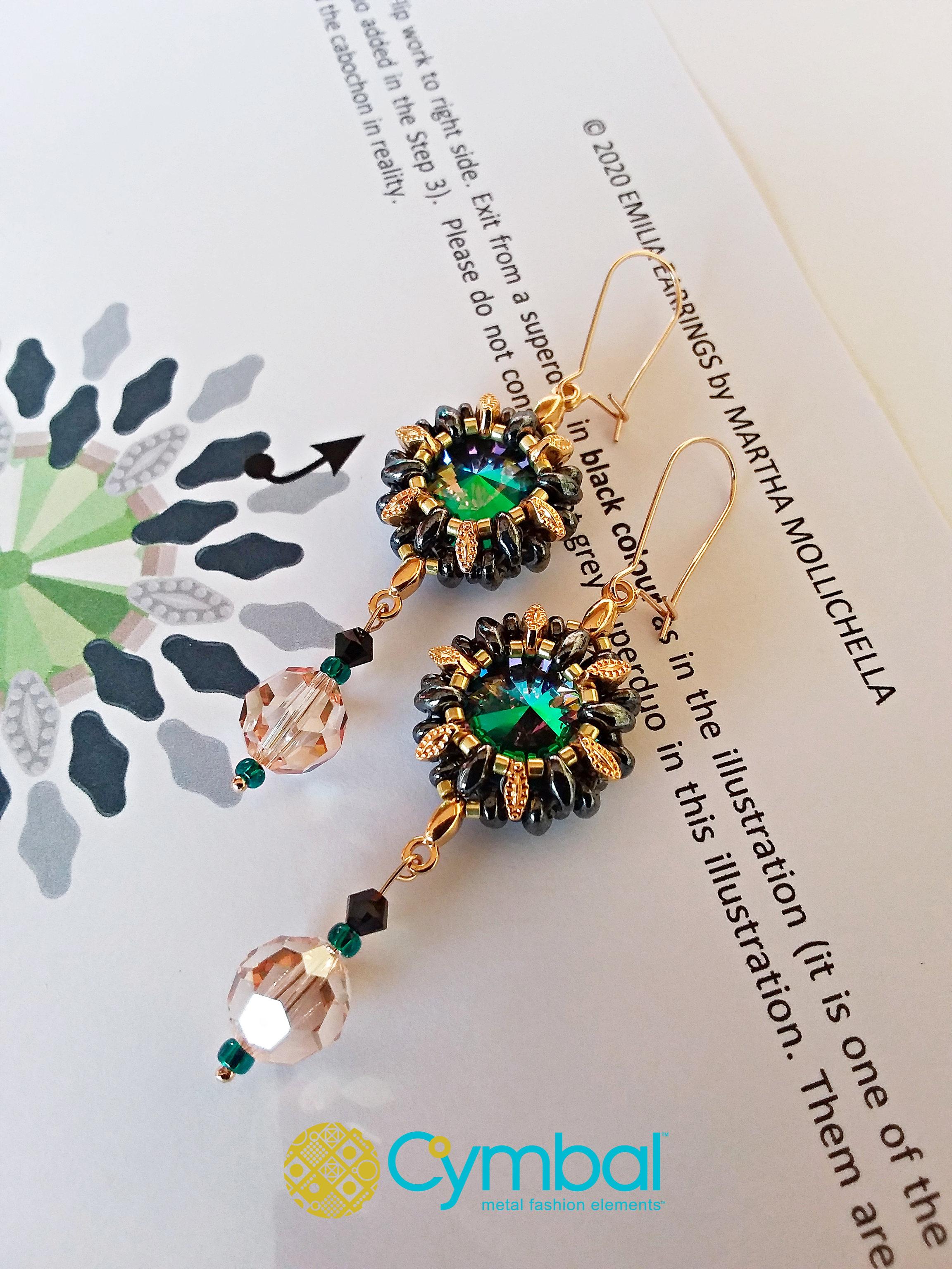 Martha Mollichella earrings tutorial beads earrings handmade