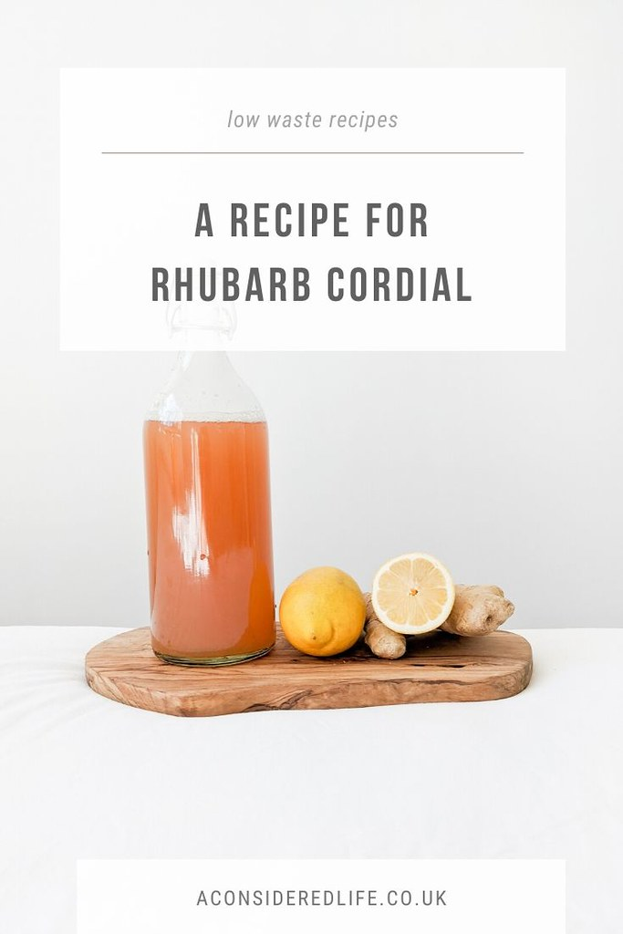 A Recipe For Rhubarb Cordial