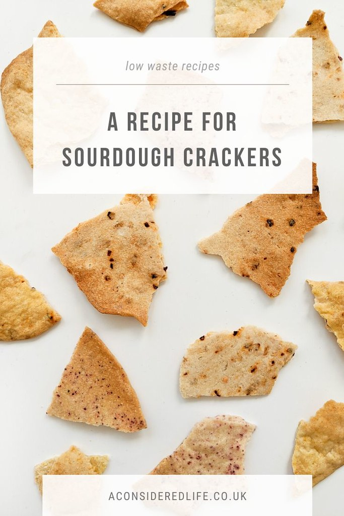 A Recipe For Sourdough Discard Crackers