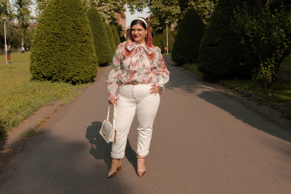 outfit curvy plus size come indossare il bianco (4)